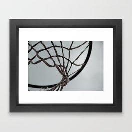 Basketball hoop Framed Art Print