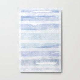 Window Blinds | Watercolor Series Metal Print