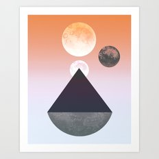 Moon Triangle Art Print