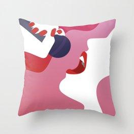 Karaoke Queen Throw Pillow