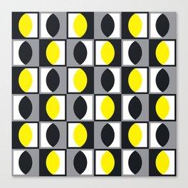Geometric Pattern 216 (yellow gray curves) Canvas Print