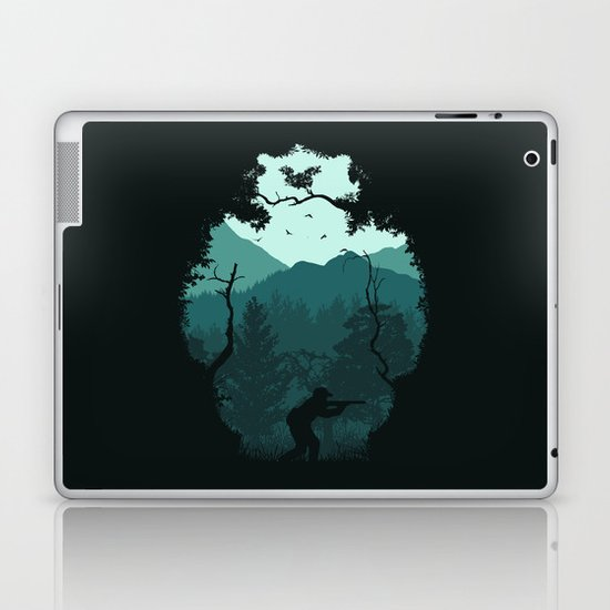 Hunting Season - Blue Laptop & iPad Skin
