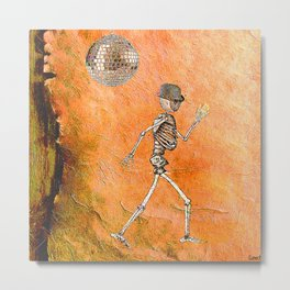 Moonwalk by Monsieur Bone  Metal Print