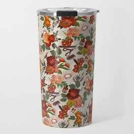 Floral Pattern (art supplies) Travel Mug