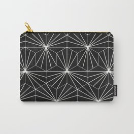 Hexagonal Pattern - Black Concrete Carry-All Pouch