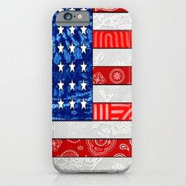 Retro American Flag iPhone Case