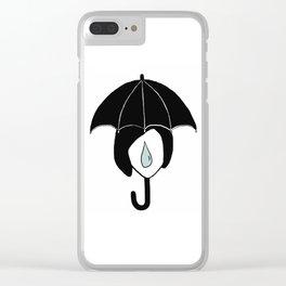 Rainy days Clear iPhone Case