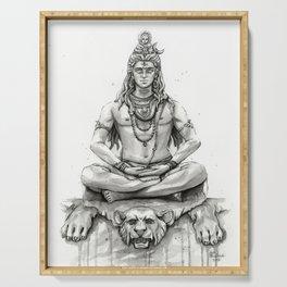 Lord Shiva Painting, Shiva Art, Meditation Shiva Portrait Serving Tray