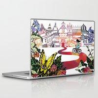 cycling Laptop & iPad Skins featuring Summer Cycling by Natsuki Otani