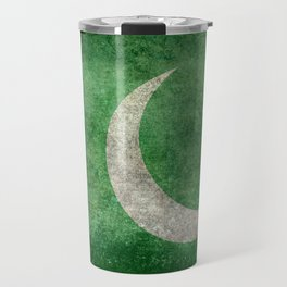 Flag of Pakistan in vintage style Travel Mug