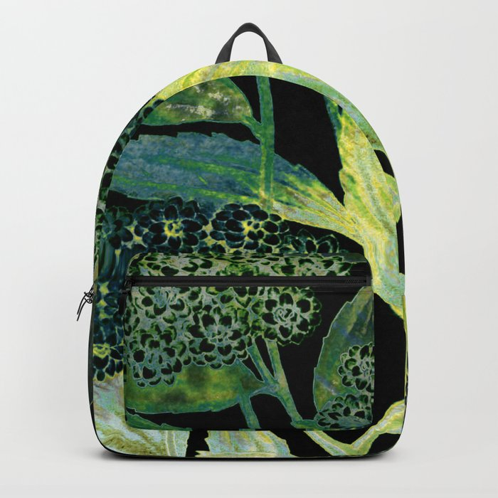 Dark floral with golden accent Backpack