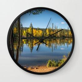 Autumn - 0758 Aspen Mirror Lake, Utah Wall Clock