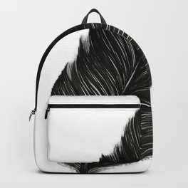 Psalm 91:4 Black Feather Backpack