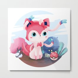 Catevee - Sylveon Metal Print