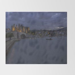 Conwy Castle Throw Blanket