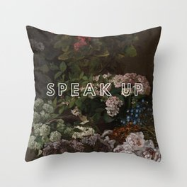 Speak Up Floral Throw Pillow