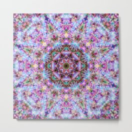 Astrid - Psychedelic Kaleidoscopic Design Metal Print