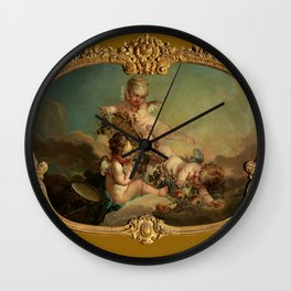 "François Boucher ""Allegory of Autumn"" Wall Clock"