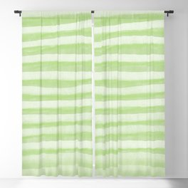 Light Green Stripes Pattern Blackout Curtain