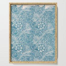 Vintage Block Printed Floral Pattern by William Morris, 1875 Serving Tray