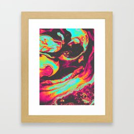 HAUNT YOU BY THE REAR VIEW MIRROR Framed Art Print