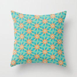 Tropical Florals Throw Pillow