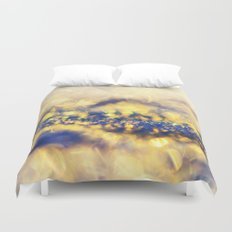 Ice Canyon in Purple and Gold Duvet Cover