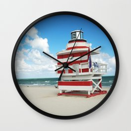 Baywatch House (Miami Beach, Florida) Wall Clock