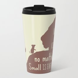 No Act of Kindness, no Matter How Small is Ever Wasted - The Lion and the Mouse Travel Mug