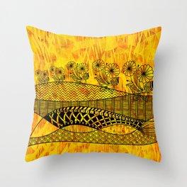 Posey Parade Flowerscape Throw Pillow