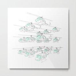 A flock of Hueys Metal Print