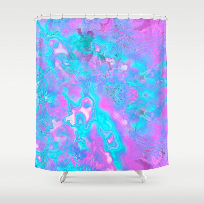 Pastel Hologram Shower Curtain By Lenoreunicorn