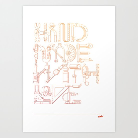 Hand Made With Love Art Print