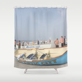 Atlantic City Lifeboats Shower Curtain