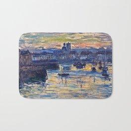 Claude Monet - Port Of Dieppe, Evening Bath Mat