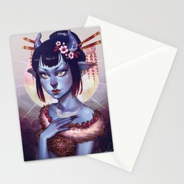 Oni Girl OC Stationery Cards