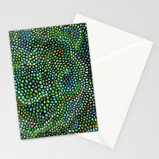 Peacock Rose Abstract Stationery Cards