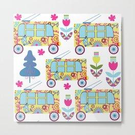 Trolleybus pattern 5S Metal Print