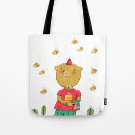 Honey Bear, Busy Bees Tote Bag