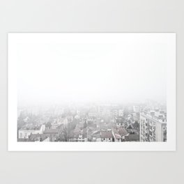 Belgrade / The Fog Art Print