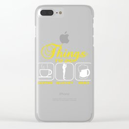Do you love Coffee? Survey? Beer? Here's the perfect All in one t-shirt Design for you! Things To Do Clear iPhone Case