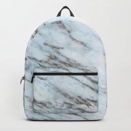 Aqua, Azure, and Heather-Gray Marble Backpack