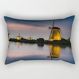 Dutch Wind Mills Rectangular Pillow