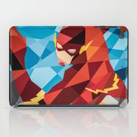 dc comics iPad Cases featuring DC Comics Flash by Eric Dufresne