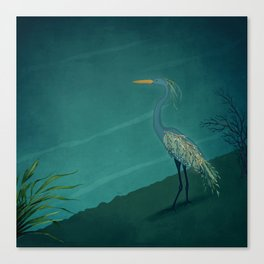 Camouflage: The Crane Canvas Print