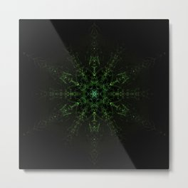 Green Expansion Mandala Metal Print