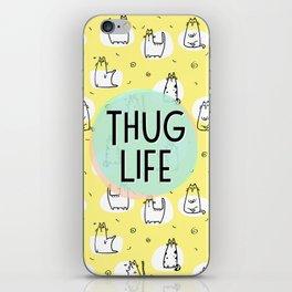 Cat Thug Life - funny cat illustration iPhone Skin
