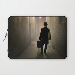 Victorian man with top hat Laptop Sleeve