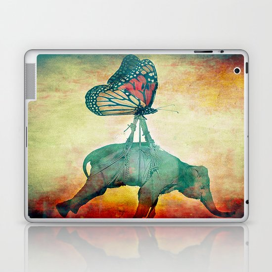 The elephant and the butterfly Laptop & iPad Skin
