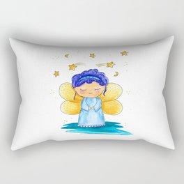 Little blue fairy Rectangular Pillow